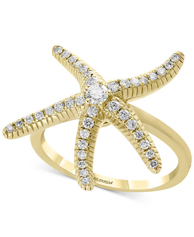 EFFY® Diamond Starfish Statement Ring (1/3 ct. t.w.) in 14k Gold