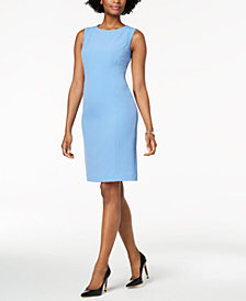Kasper Stretch Crepe Sheath Dress, Regular & Petite
