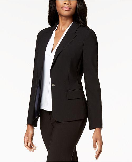Calvin Klein Single-Button Stretch Blazer
