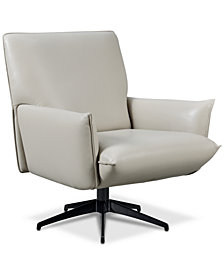 Maida Leather Swivel Chair