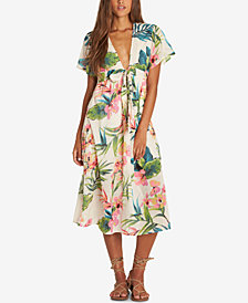 Billabong Juniors' Rolling Seas Printed Cotton Midi Dress