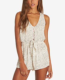 Billabong Juniors' Summer Solstice Printed Tie-Front Romper