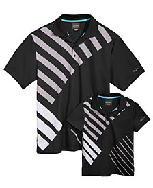 Greg Norman for Tasso Elba Men's & Kids Abstract Striped Polos, Created for Macy's