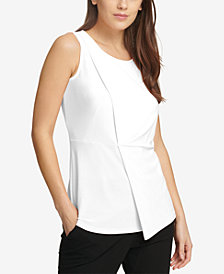 DKNY Draped Asymmetrical Top, Created for Macy's