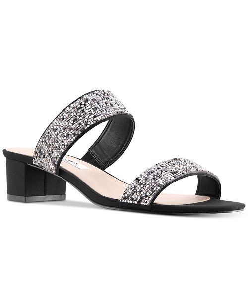 9ba0450fb81 Nina Georgea Rhinestone-Encrusted Slide Sandals   Reviews - Sandals ...