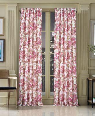 "Pristina 50"" x 63"" Floral-Paisley Rod Pocket Curtain Panel"