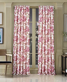 """J Queen New York Pristina 50"""" x 84"""" Floral-Paisley Rod Pocket Curtain Panel"""