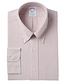 Brooks Brothers Men's Regent Slim-Fit Non-Iron Broadcloth Stretch Stripe Dress Shirt