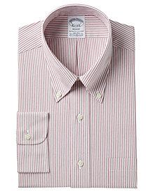 Brooks Brothers Men's Regent Slim-Fit Non-Iron Broadcloth Stretch Stripe Dress Shirt
