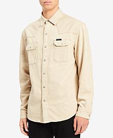 Calvin Klein Jeans Men's Western Khaki Shirt