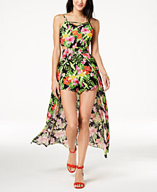The Edit By Seventeen Juniors' Printed Maxi Romper, Created for Macy's