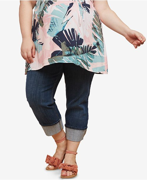 521dd426a5220 Motherhood Maternity Plus Size Cropped Jeans & Reviews - Maternity ...
