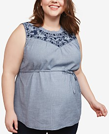 Motherhood Maternity Plus Size Embroidered Top
