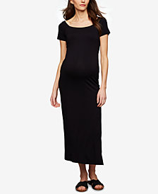 A Pea In The Pod Maternity Babydoll Maxi Dress