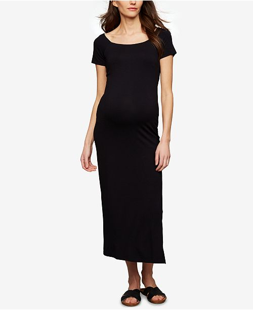 A Pea in the Pod Maternity Babydoll Maxi Dress