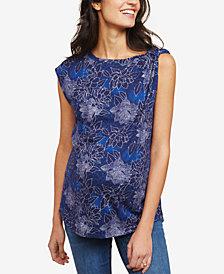 Motherhood Maternity Printed Drop-Shoulder Blouse