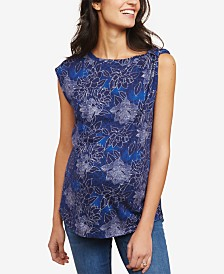 Motherhood Maternity Printed Drop-Shoulder Blouse
