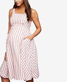 A Pea In The Pod Maternity Striped Midi Dress