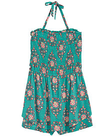 Kandy Kiss Big Girls Printed Halter Romper