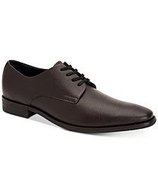 Calvin Klein Men's Ramses Tumbled Leather Oxfords