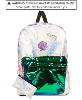 Little & Big Girls Reversible Sequins Mermaid Backpack & Coin Purse
