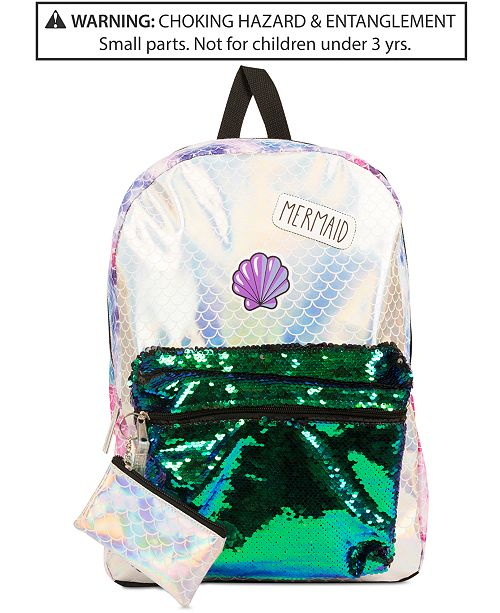 f373ac6950 ... FAB Little   Big Girls Reversible Sequins Mermaid Backpack   Coin ...