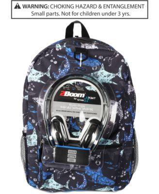 FAB Little & Big Boys Shark-Print Backpack