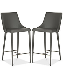 Channing Faux Leather Counter Stool (Set Of 2), Quick Ship