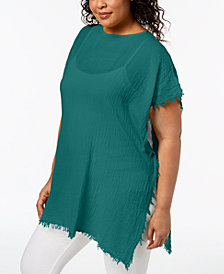 Eileen Fisher Plus Size Organic Cotton Poncho