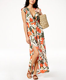 Vince Camuto Printed Strappy-Back Maxi Dress  Cover-Up