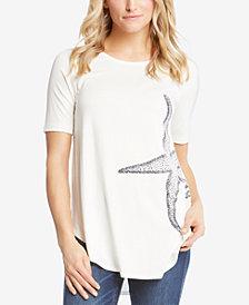 Karen Kane Starfish Graphic T-Shirt