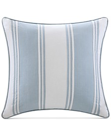 "Crystal Beach 18"" Square Pieced Decorative Pillow"