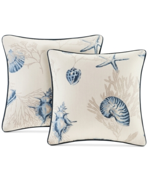 Madison Park Bayside Reversible 20 Square Printed Pillow Pair
