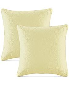 """Quebec Quilted 20"""" Square Decorative Pillow Pair"""