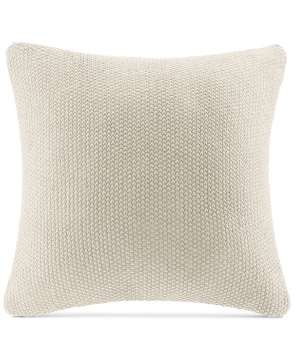 """20""""x20"""" Oversize Bree Knit Square Throw Pillow Cover Ivory"""