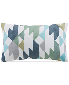 "INK+IVY Konya 12"" x 18"" Geometric Embroidered Oblong Decorative Pillow"