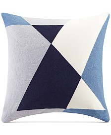 """INK+IVY Aero 20"""" Square Embroidered Abstract Decorative Pillow"""