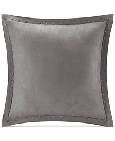 "Alban Faux-Suede 20"" Square Studded Decorative Pillow"