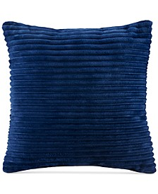 "Parker Reversible Corduroy Plush 20"" Square Decorative Pillow"