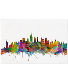 "Michael Tompsett 'New York City Skyline' 16"" x 24"" Canvas Art Print"