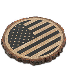 Thirstystone Flag Bark-Edge Coaster