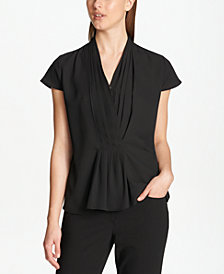 Calvin Klein Pleated Layered Top