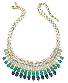 "I.N.C Gold-Tone Stone Multi-Layered Statement Necklace, 18"" + 3"" extender, Created for Macy's"