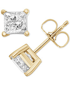 Macy's Star Signature Diamond™ Stud Earrings (1 ct. t.w.) in 14k Gold or White Gold