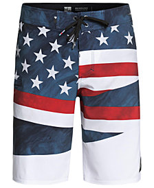"Quiksilver Men's Highline Freedom Graphic-Print 20"" Board Shorts"