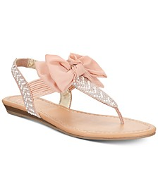 Material Girl Swan Flat Thong Sandals, Created for Macy's