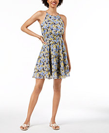 Maison Jules Halter Fit & Flare Dress, Created for Macy's