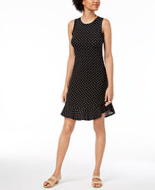 Maison Jules Dot-Print A-Line Dress, Created for Macy's
