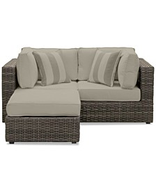 Viewport Outdoor 3-Pc. Modular Seating Set (2 Corner Units and 1 Ottoman) with Sunbrella® Cushions, Created for Macy's
