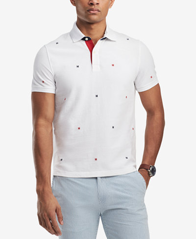 Tommy Hilfiger Men's Classic Fit Embroidered H Logo Polo, Created for Macy's